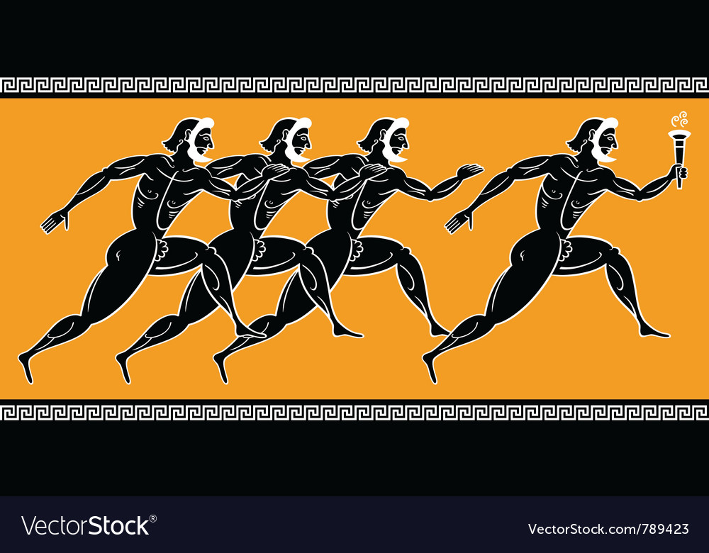 Olympic runners vector | Price: 1 Credit (USD $1)