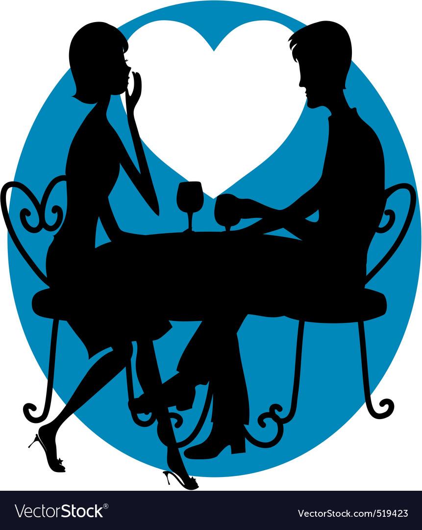 Romantic couple silhouette vector | Price: 1 Credit (USD $1)