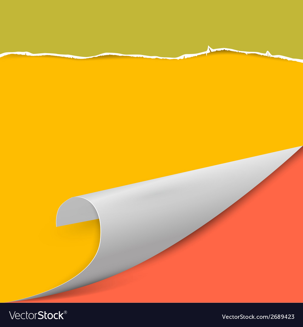 Torn paper background with bent corner vector | Price: 1 Credit (USD $1)