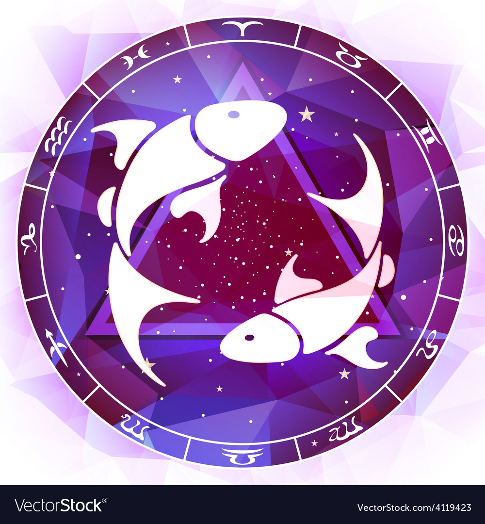 Zodiac sign pisces vector | Price: 1 Credit (USD $1)