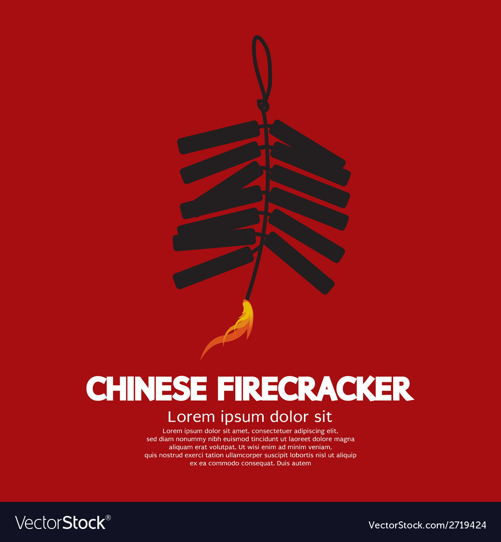 Chinese firecracker vector | Price: 1 Credit (USD $1)