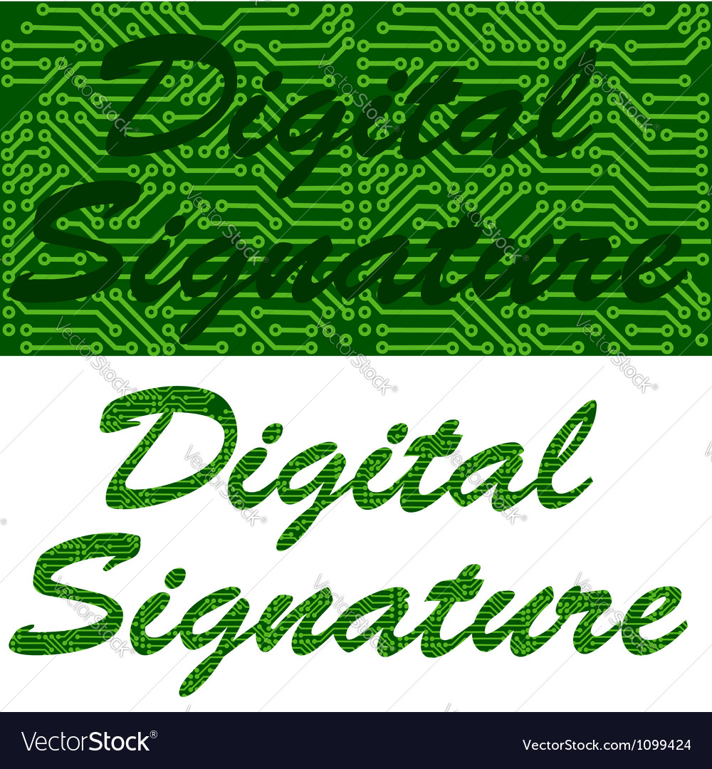 Digital signature vector | Price: 1 Credit (USD $1)