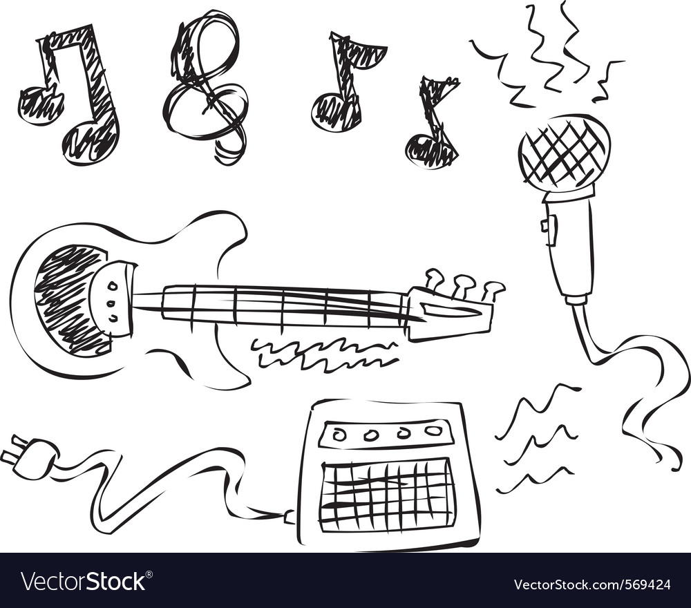 Doodle music vector | Price: 1 Credit (USD $1)