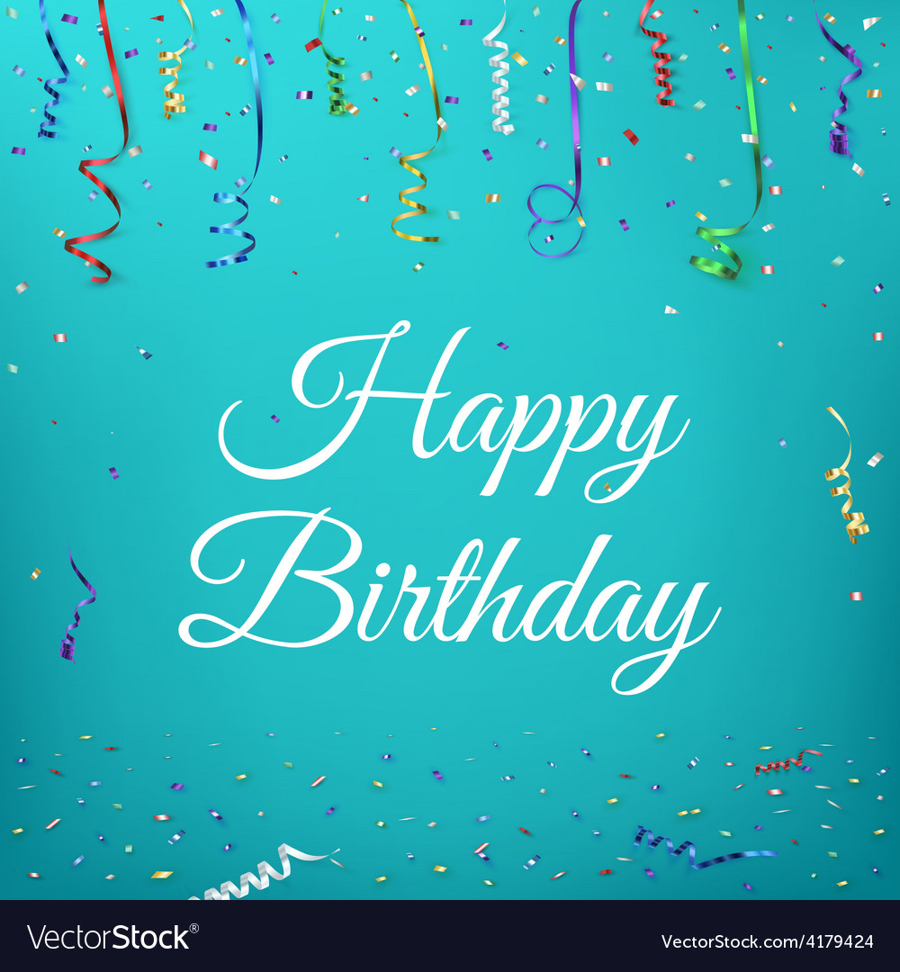 Happy birthday celebration background vector | Price: 1 Credit (USD $1)