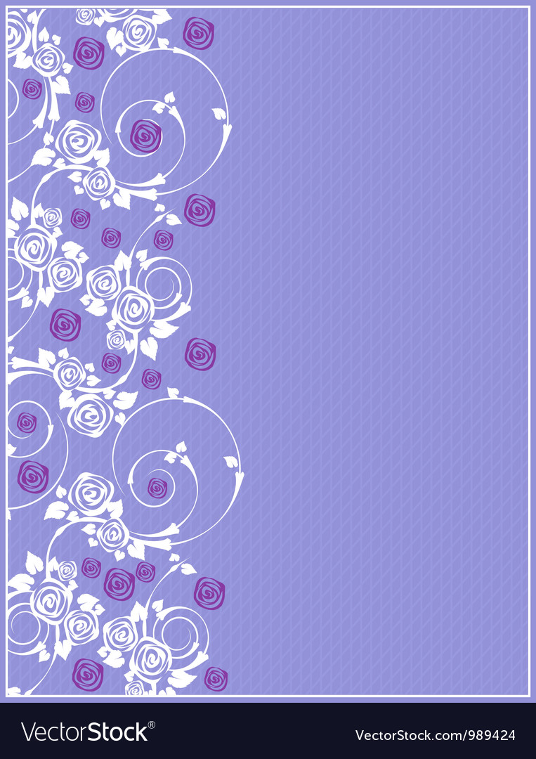 Invitation with floral vector | Price: 1 Credit (USD $1)