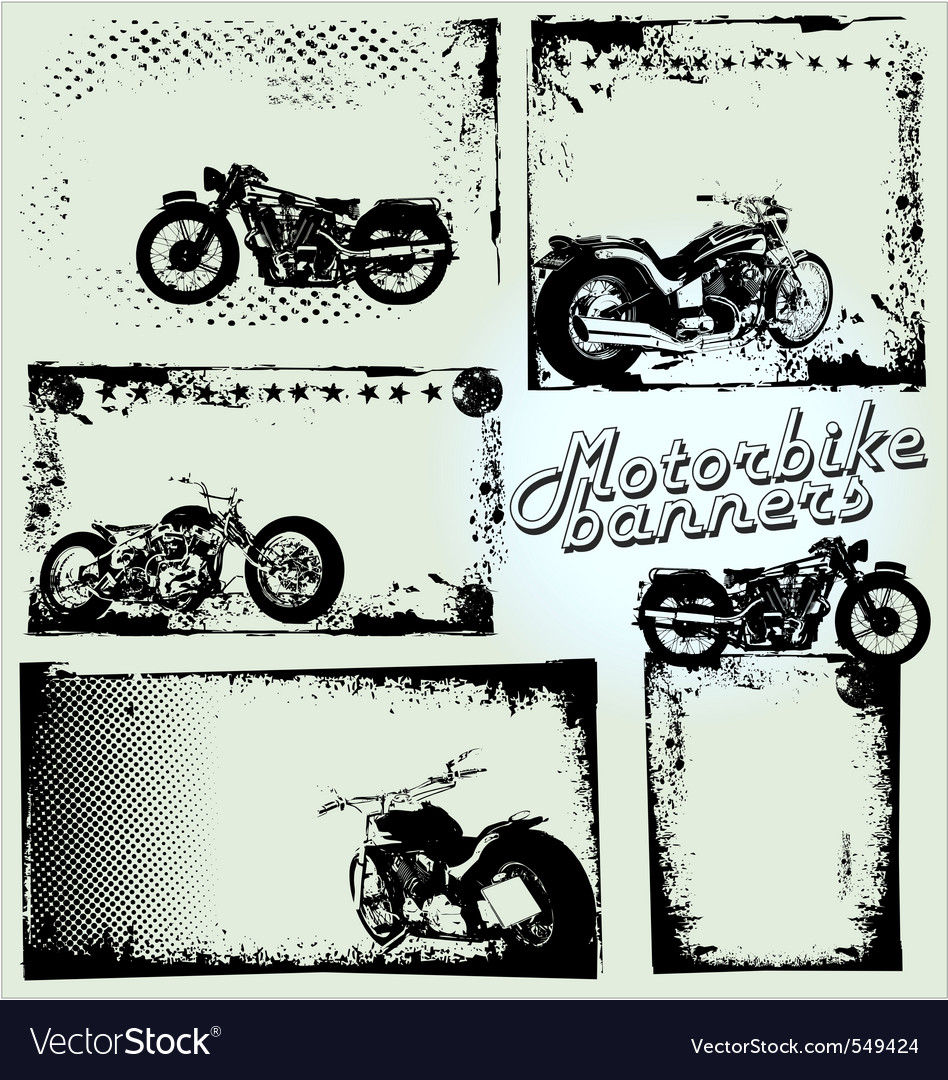 Motorbike grunge banners vector | Price: 1 Credit (USD $1)