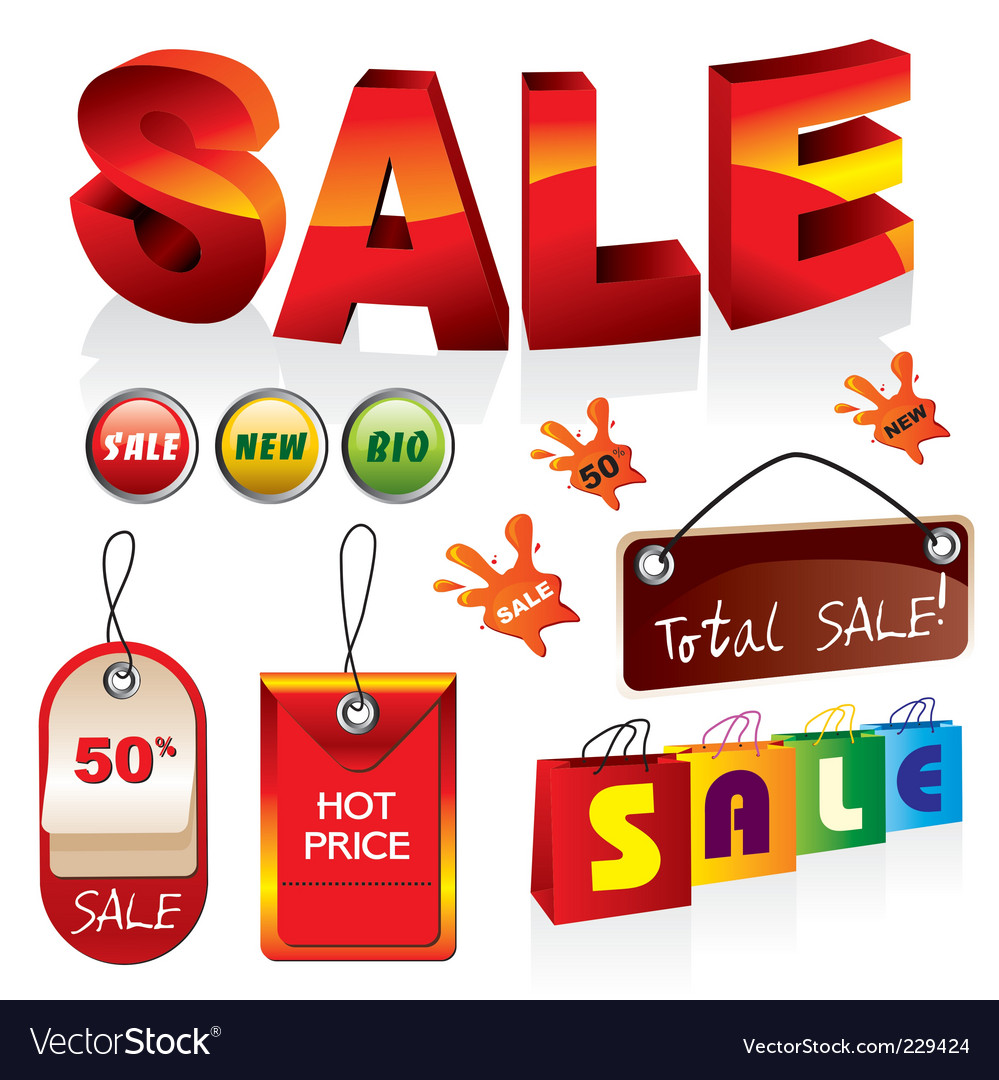 Sale icons vector | Price: 3 Credit (USD $3)