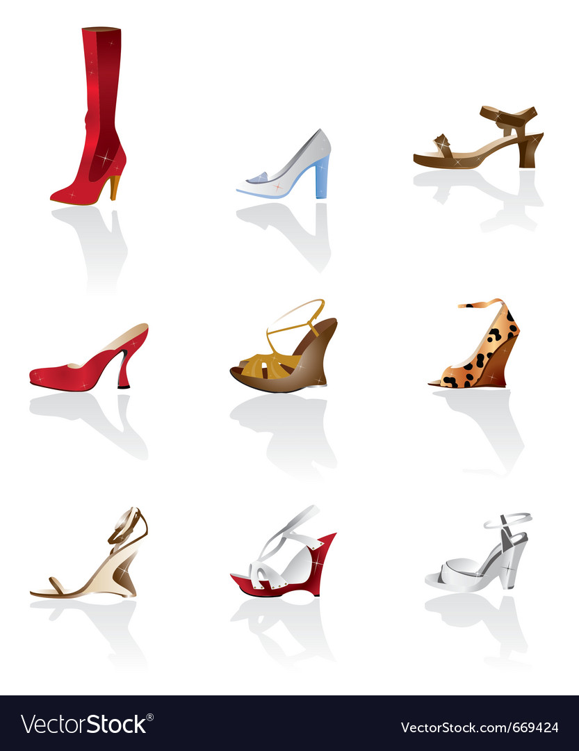 Shoe and boot icons vector | Price: 1 Credit (USD $1)