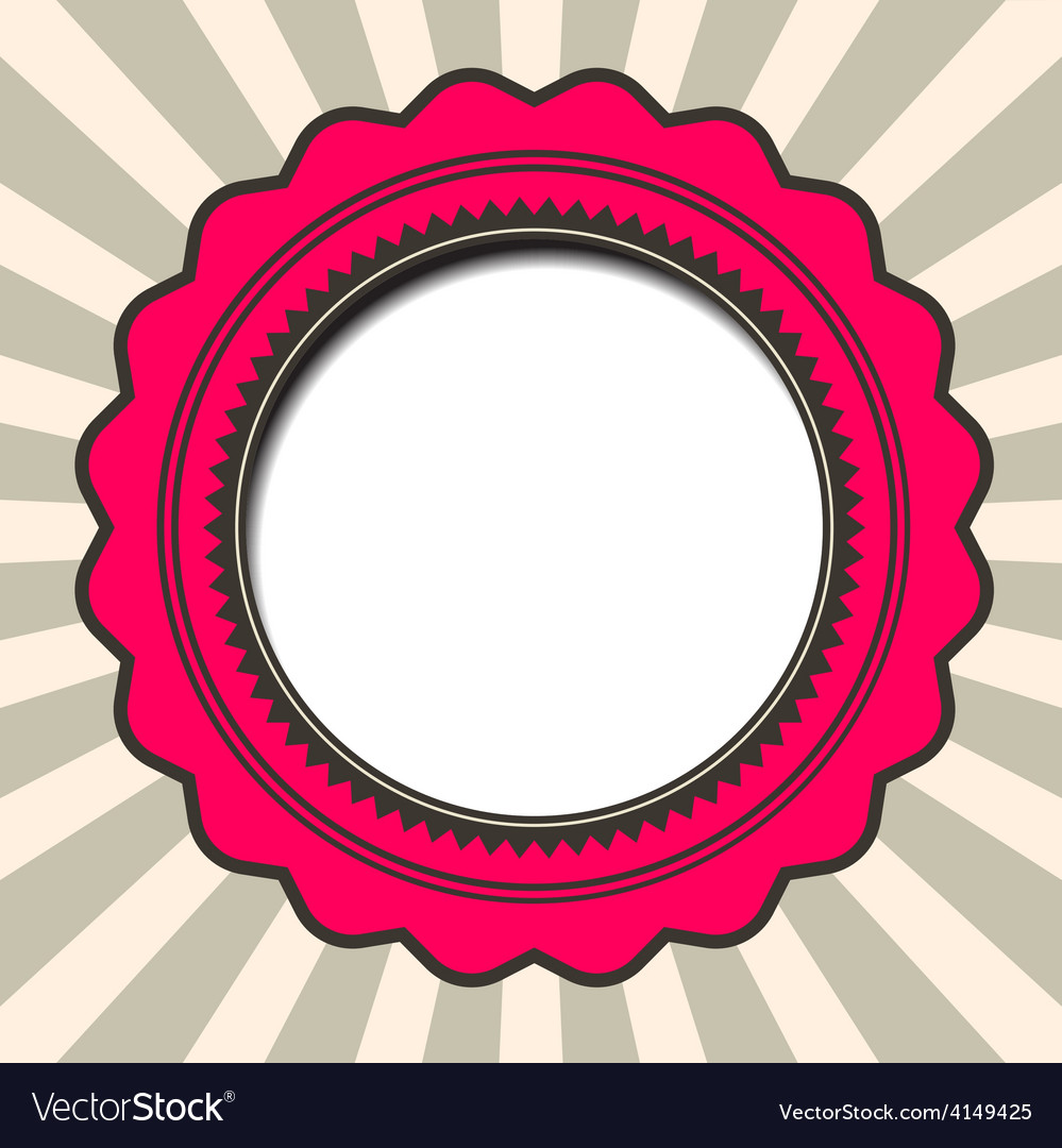 Abstract paper circle retro background vector | Price: 1 Credit (USD $1)