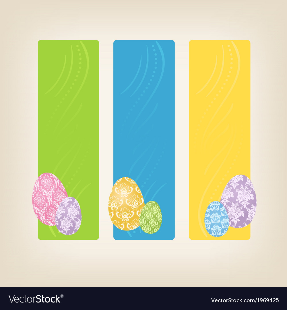 Banners with easter eggs vector | Price: 1 Credit (USD $1)