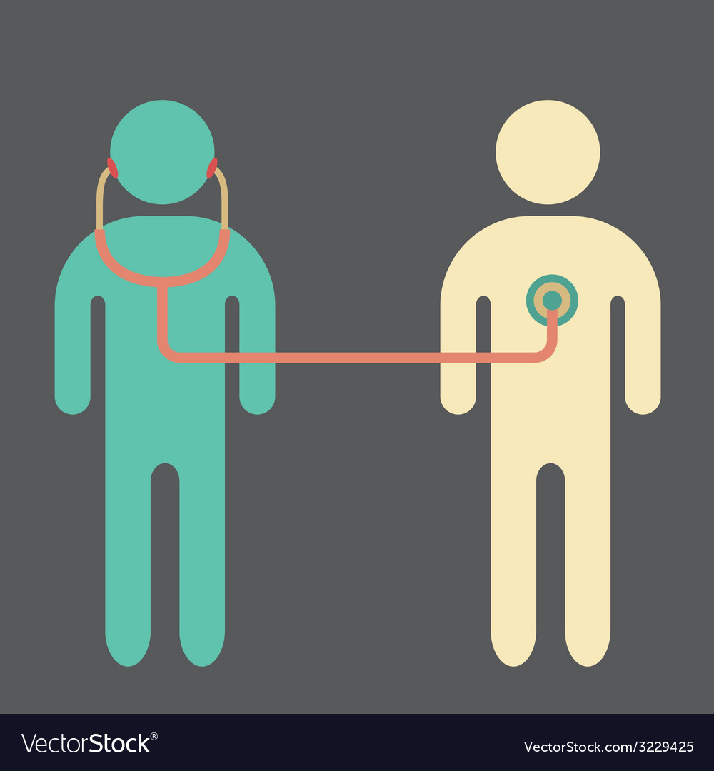 Doctor and patient vector | Price: 1 Credit (USD $1)