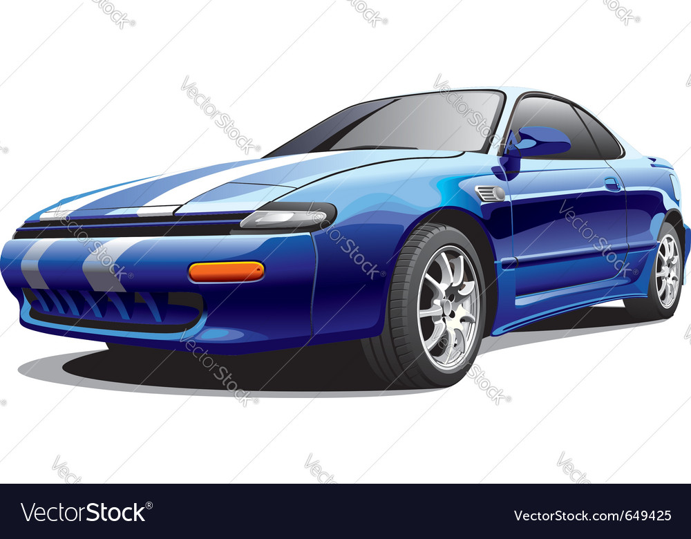 Drag sports car vector | Price: 3 Credit (USD $3)