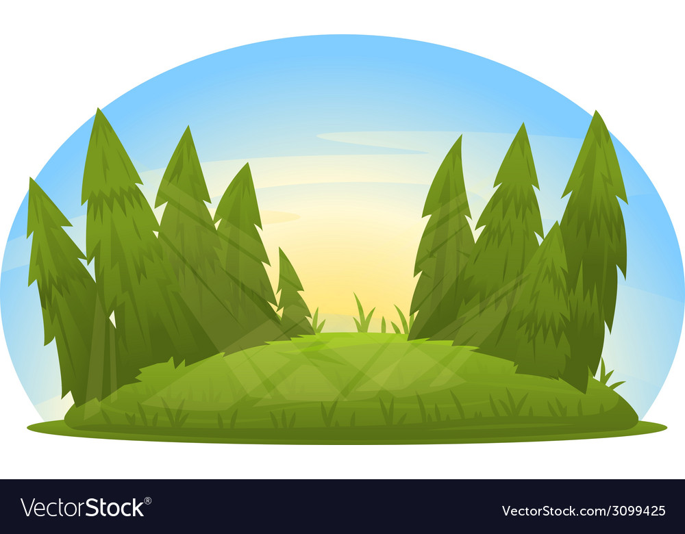 Forest glade vector | Price: 1 Credit (USD $1)