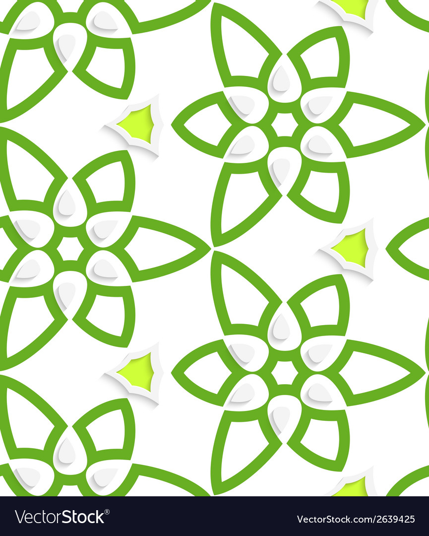 Green layered floristic swirl lace seamless vector | Price: 1 Credit (USD $1)