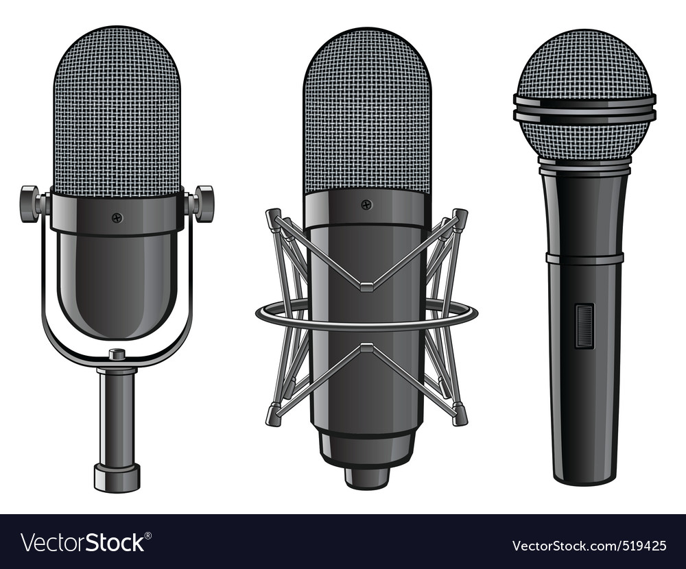 Isolated image of microphones vector | Price: 1 Credit (USD $1)