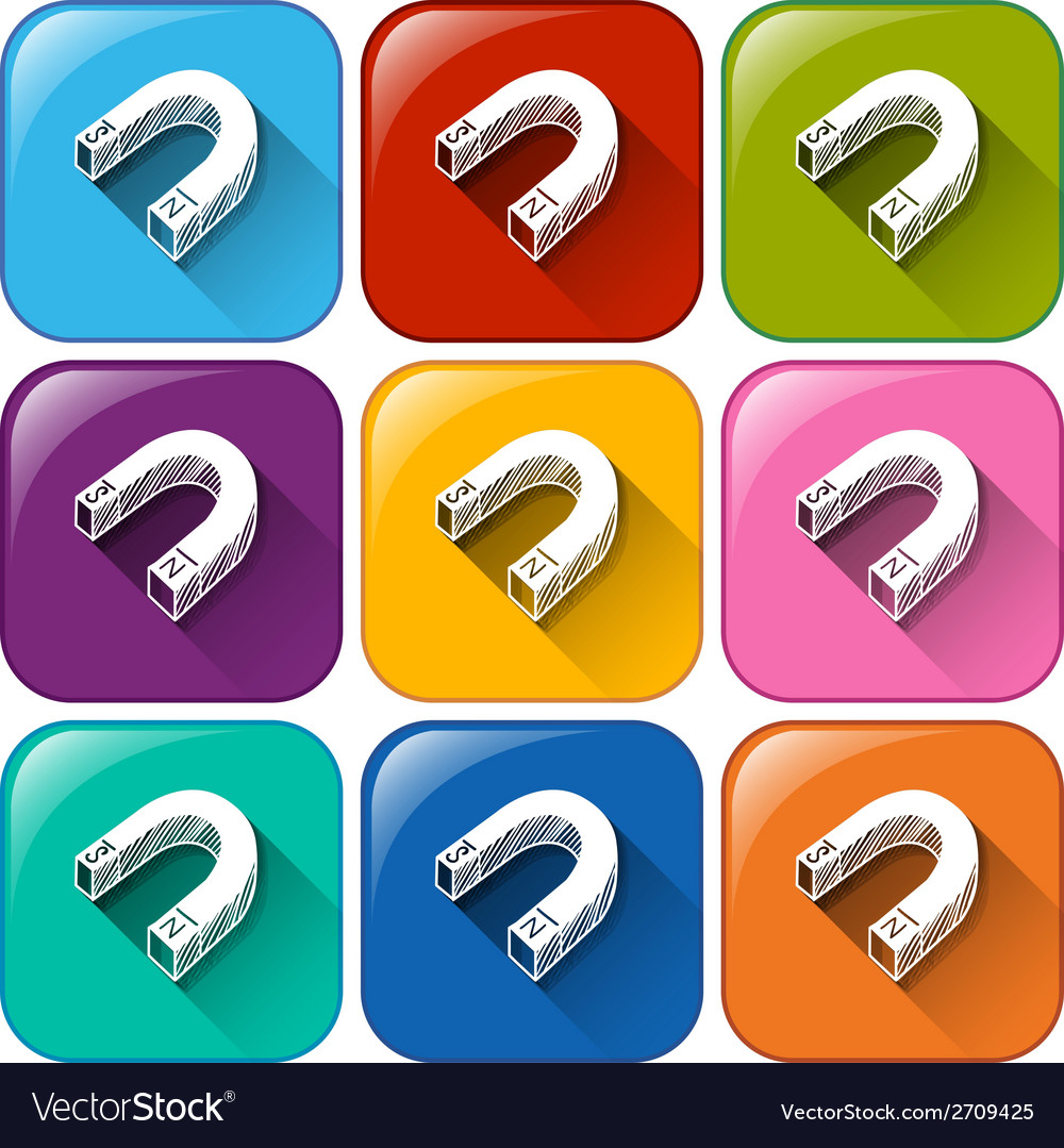 Magnet icons vector | Price: 1 Credit (USD $1)