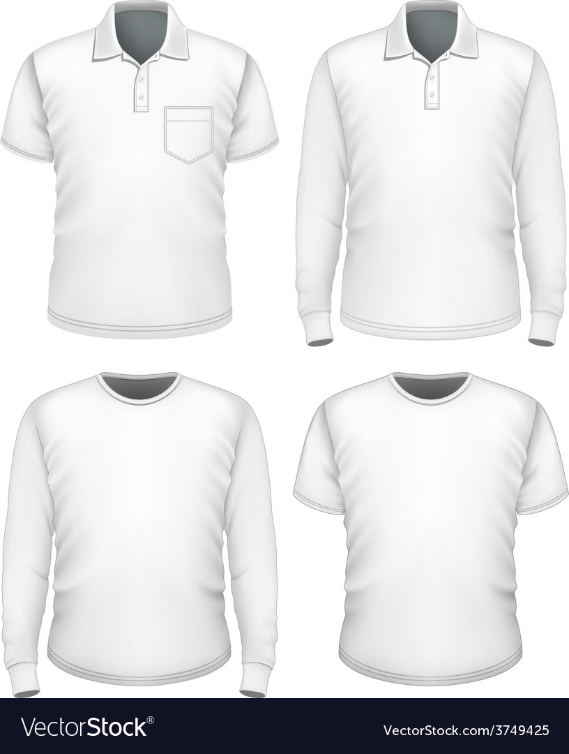 Men short and long sleeve clothes vector | Price: 3 Credit (USD $3)