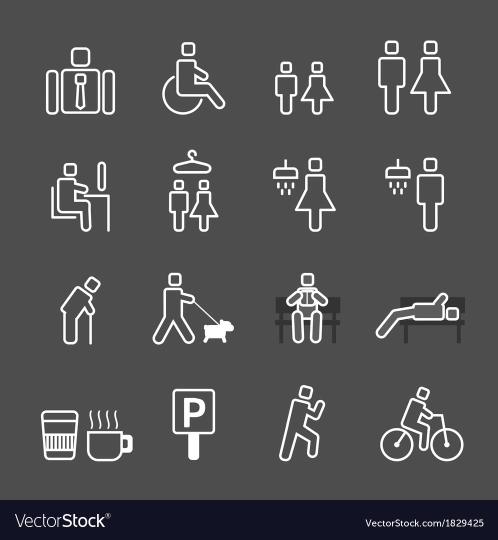 Park icons set vector | Price: 1 Credit (USD $1)