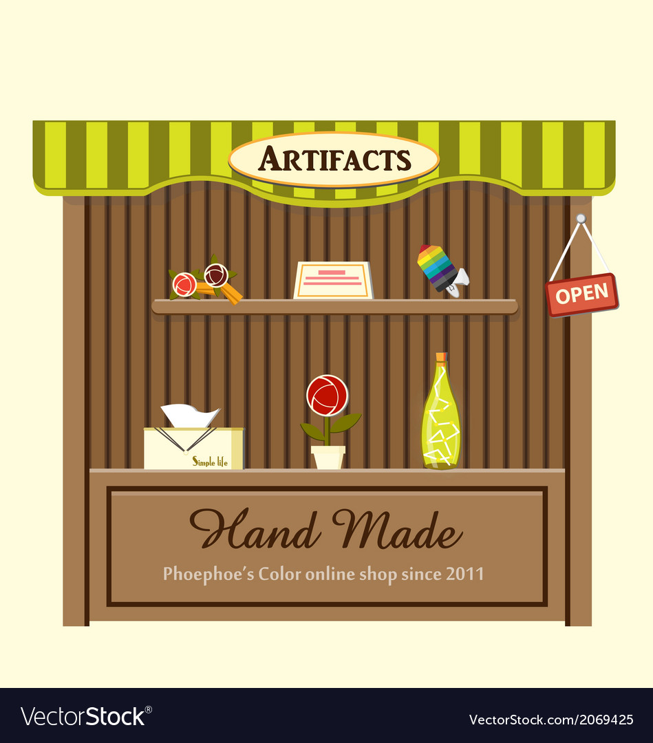 Shop of artifacts vector | Price: 1 Credit (USD $1)