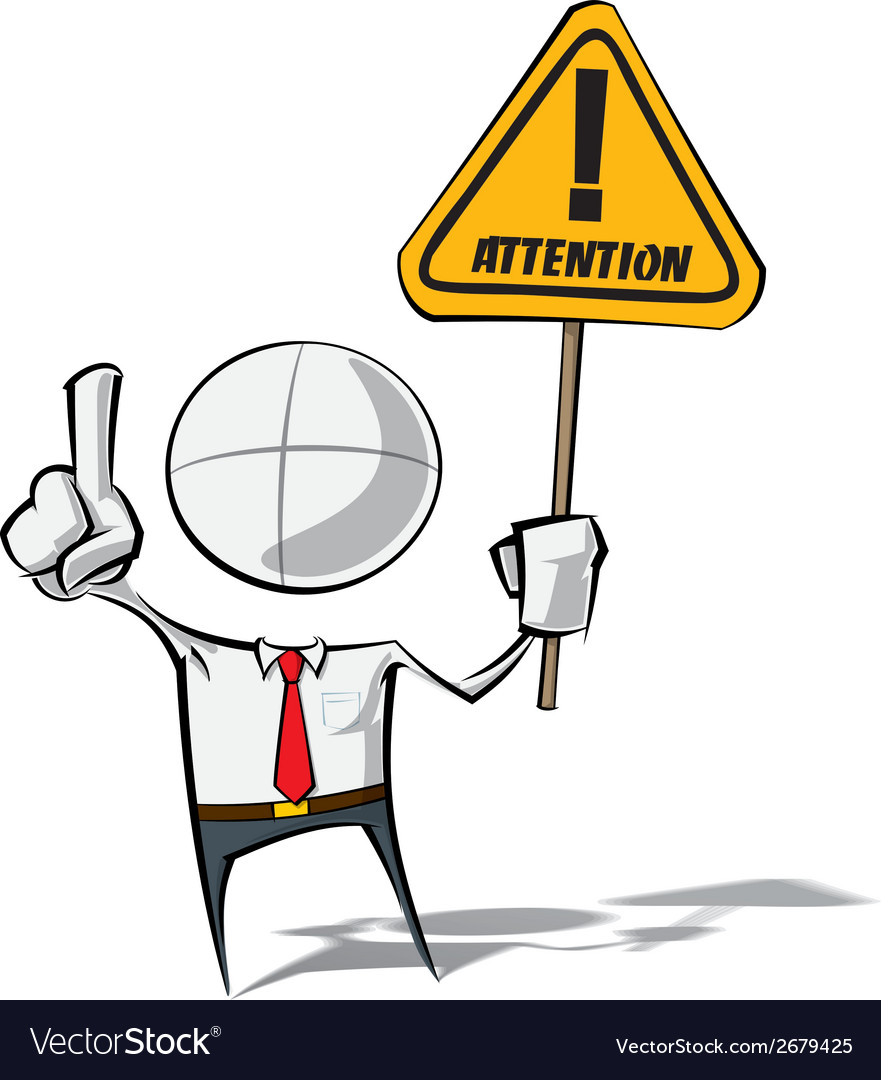 Simple business people attention vector | Price: 1 Credit (USD $1)