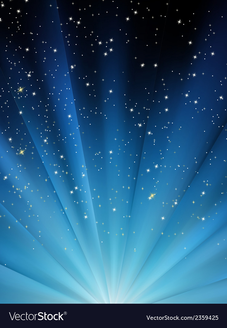 Snow falling on blue luminous rays eps 8 vector | Price: 1 Credit (USD $1)