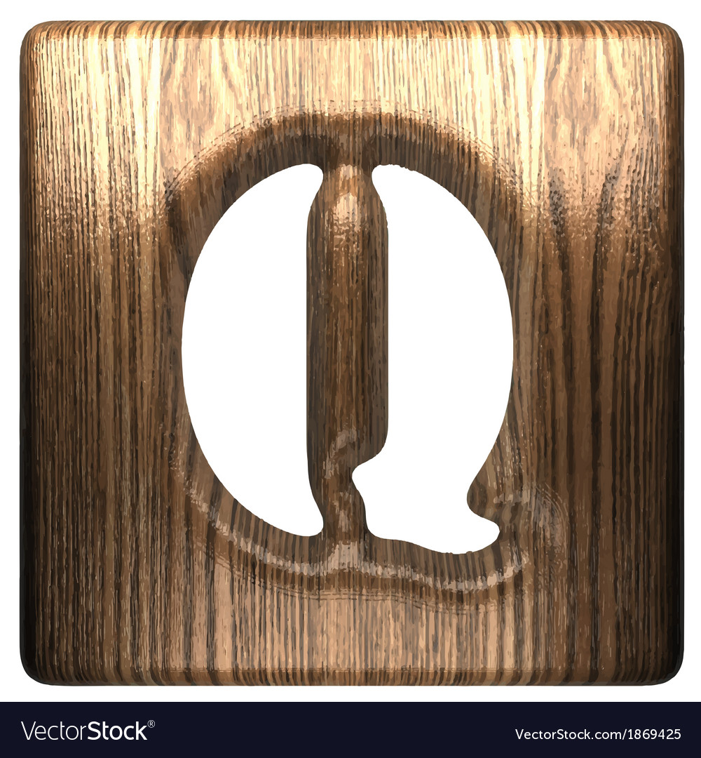 Wooden figure q vector | Price: 1 Credit (USD $1)