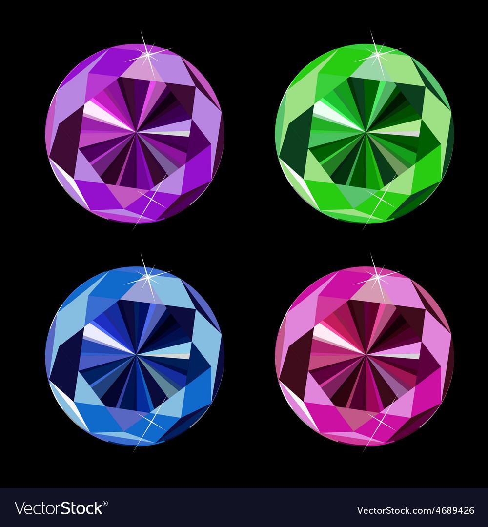Abstract luxury diamond set vector | Price: 1 Credit (USD $1)
