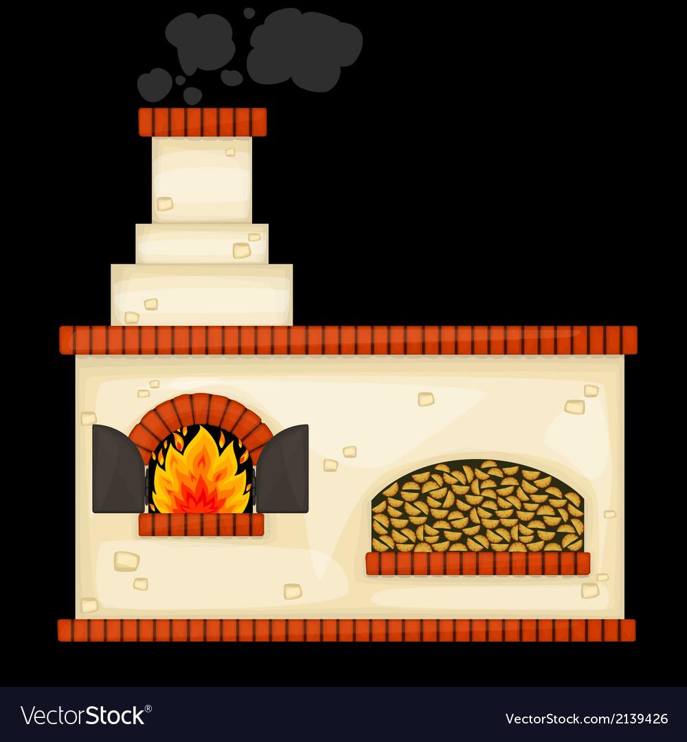 Decorative russian stove vector   Price: 1 Credit (USD $1)