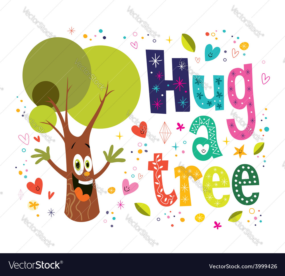 Hug a tree vector | Price: 1 Credit (USD $1)