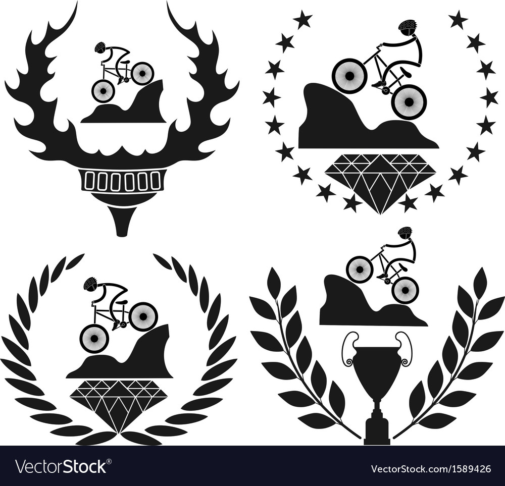 Mountain biking vector | Price: 1 Credit (USD $1)