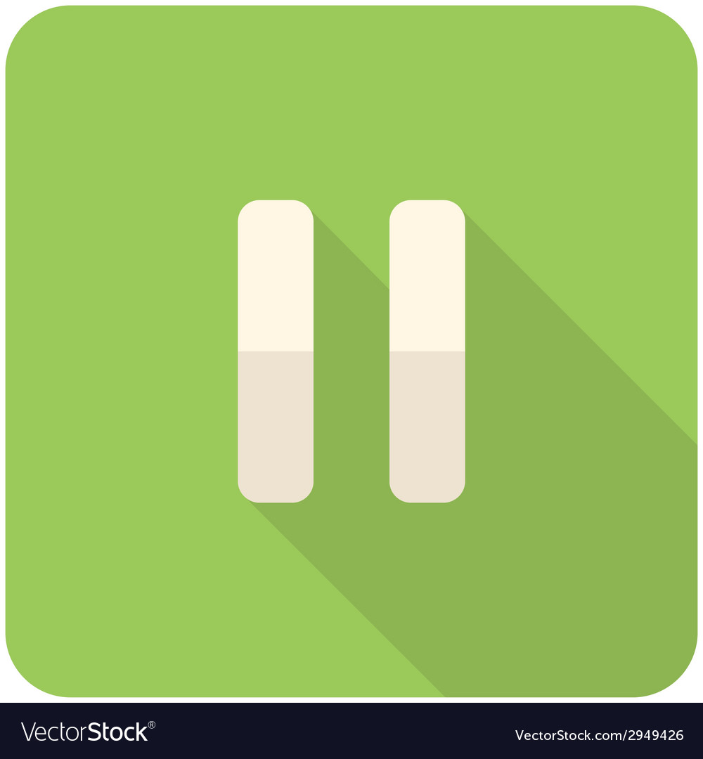 Pause icon vector | Price: 1 Credit (USD $1)