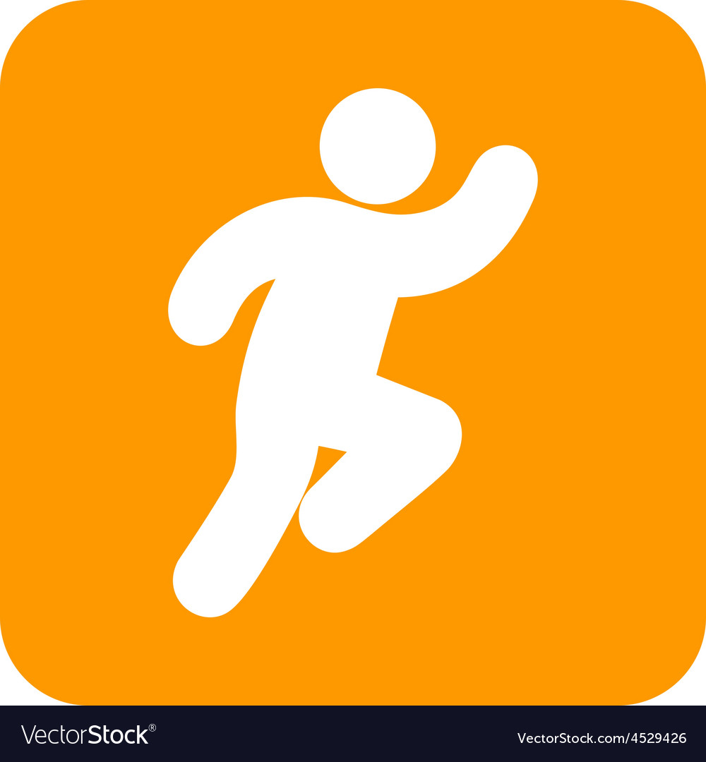 Running person vector | Price: 1 Credit (USD $1)