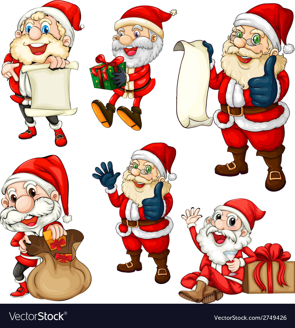 Santa set vector | Price: 1 Credit (USD $1)