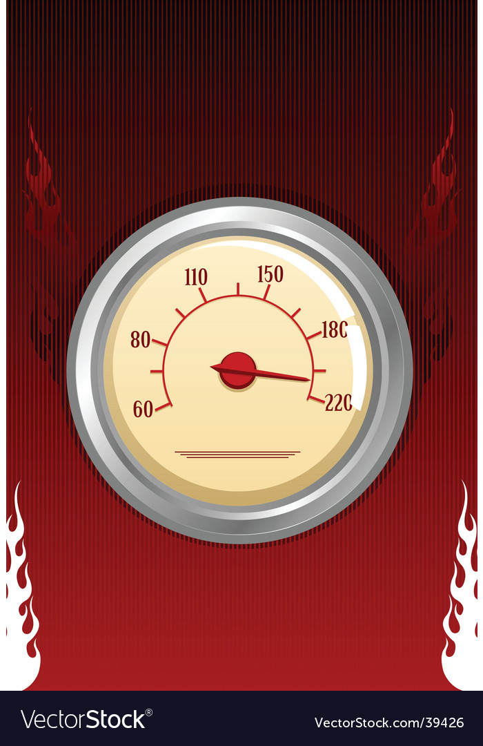 Speedometer with fires vector | Price: 1 Credit (USD $1)