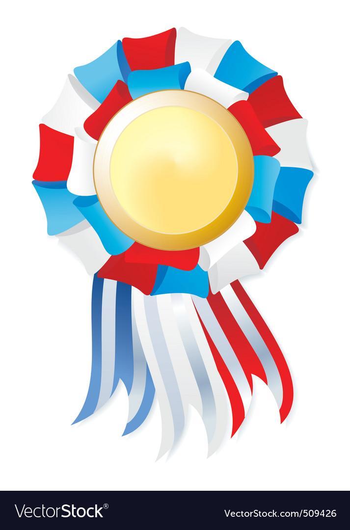 Tricolor winner award vector | Price: 1 Credit (USD $1)