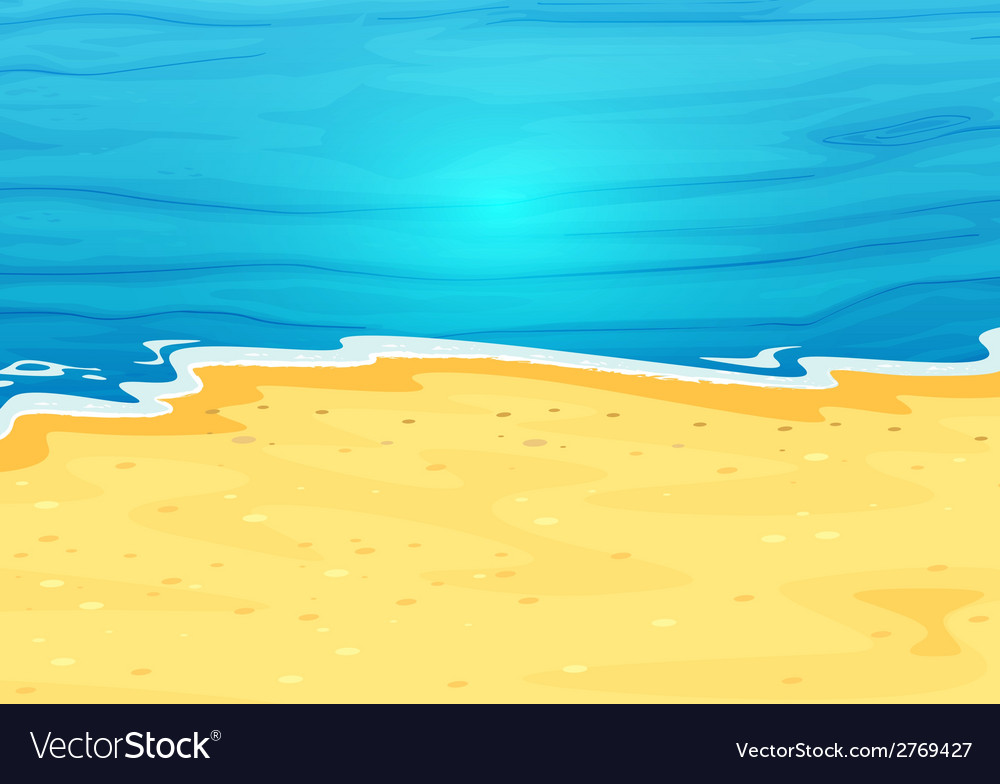 A beautiful view of the beach vector | Price: 1 Credit (USD $1)