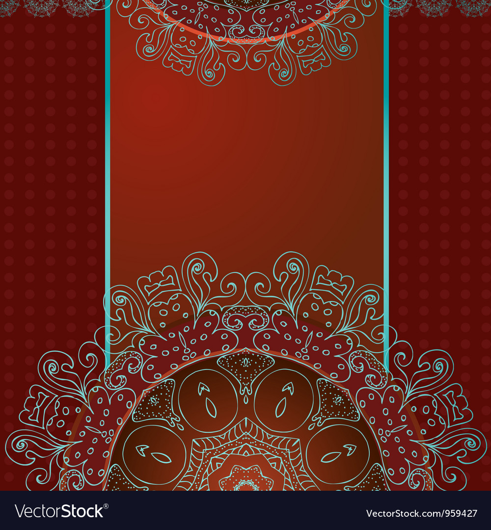 Arabesque frame3 vector | Price: 1 Credit (USD $1)