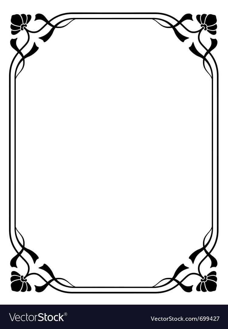 Art nouveau decorative frame vector | Price: 1 Credit (USD $1)