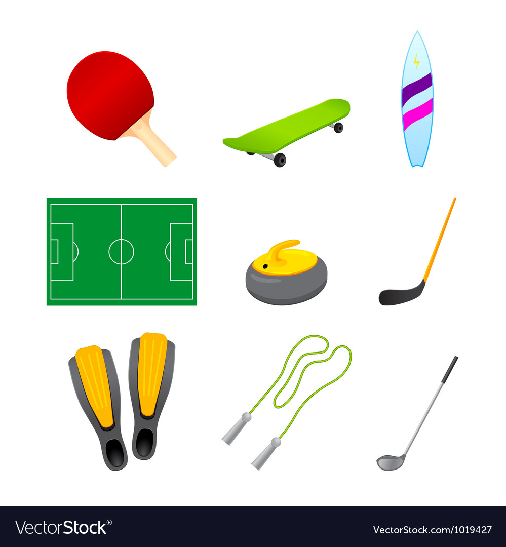 Different sport items icon vector | Price: 1 Credit (USD $1)