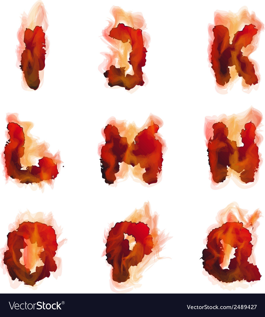 English burning alphabet vector | Price: 1 Credit (USD $1)