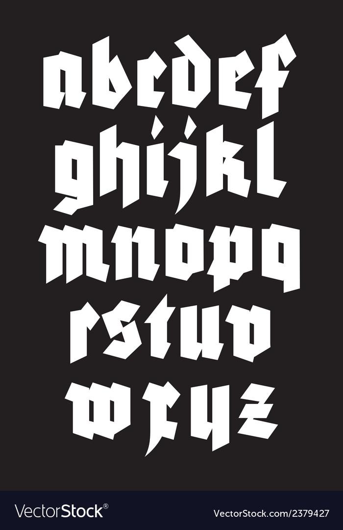 Gothic alphabet font vector   Price: 1 Credit (USD $1)