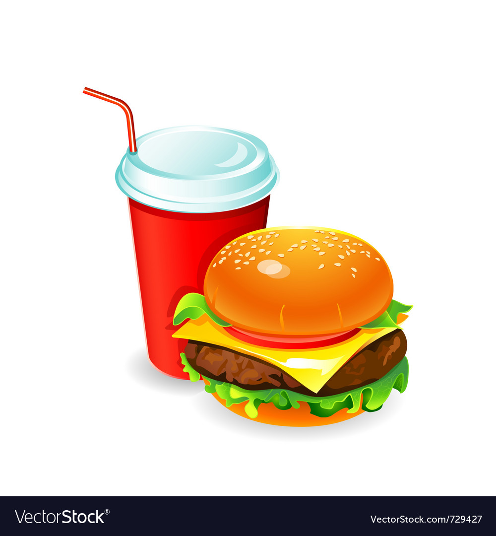 Hamburger and soda vector | Price: 5 Credit (USD $5)