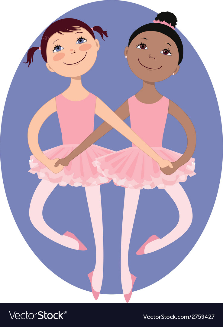 Little ballerinas vector | Price: 1 Credit (USD $1)