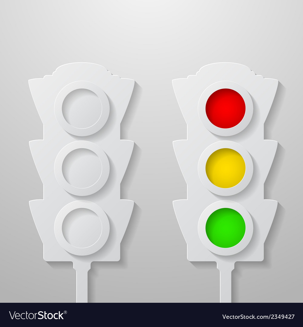 Paper traffic light vector | Price: 1 Credit (USD $1)
