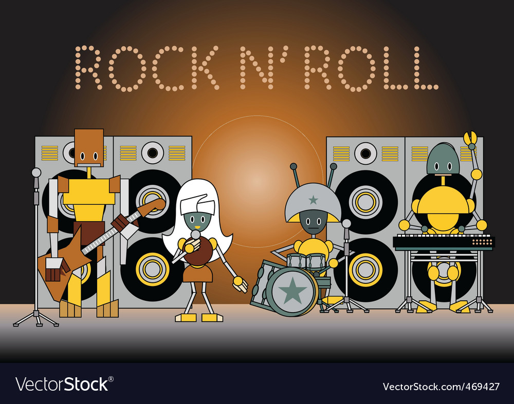 Robots band vector | Price: 1 Credit (USD $1)