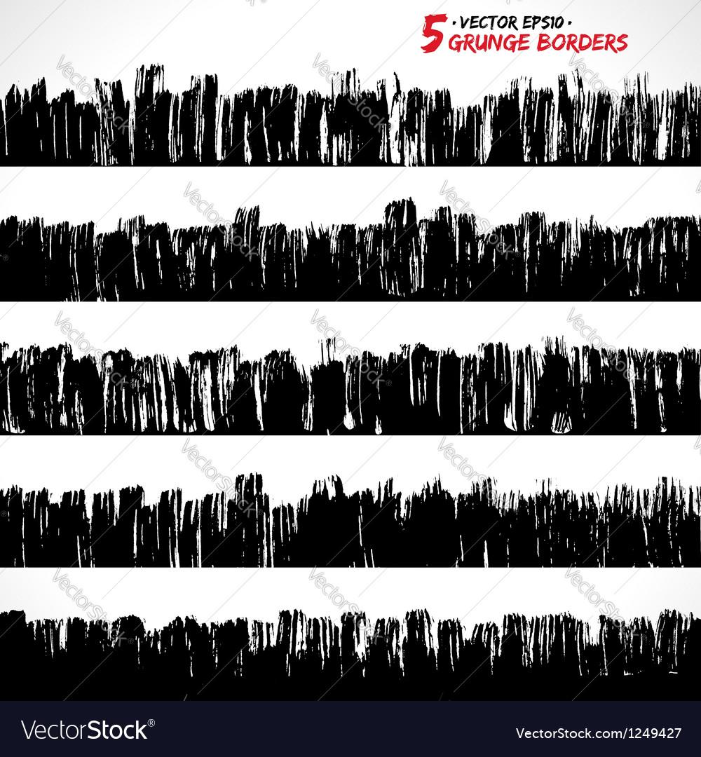 Set of grunge borders vector | Price: 1 Credit (USD $1)