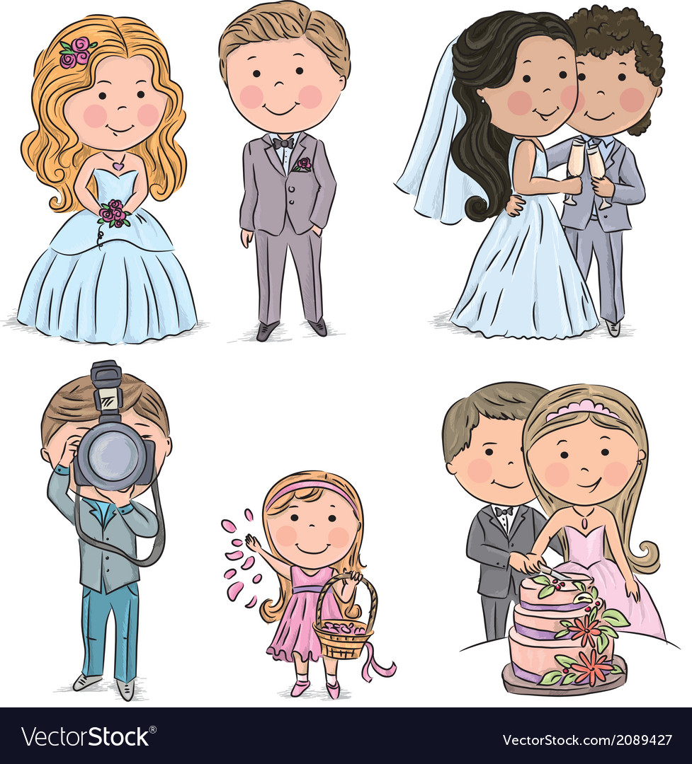 Wedding kids vector | Price: 1 Credit (USD $1)