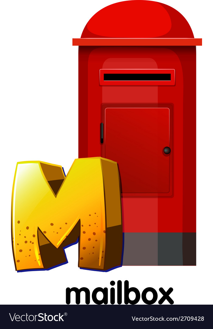A letter m for mailbox vector | Price: 1 Credit (USD $1)