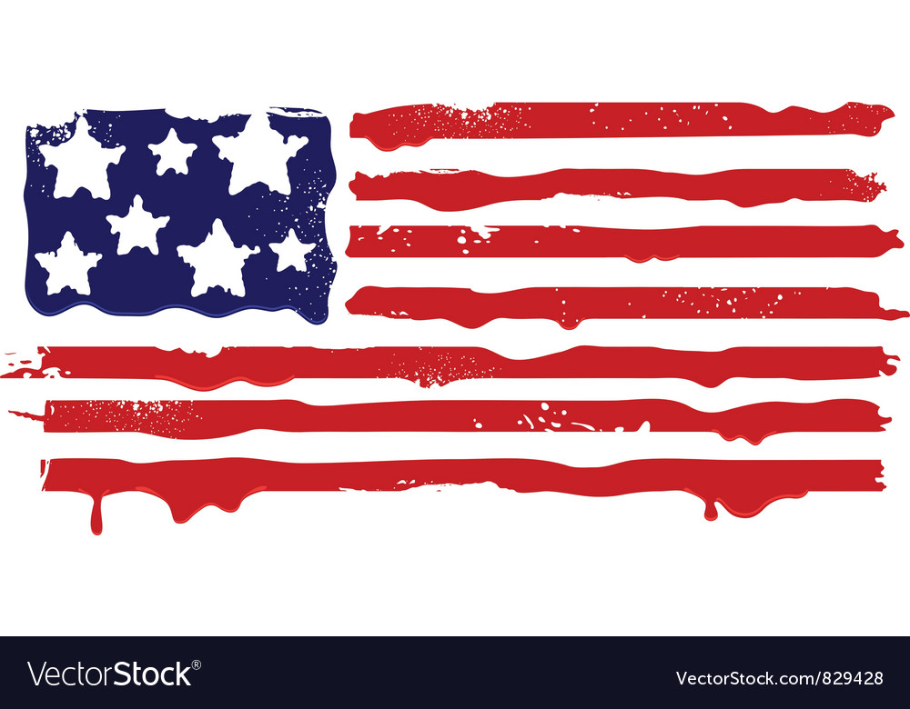 Abstract grunge flag of usa vector | Price: 1 Credit (USD $1)