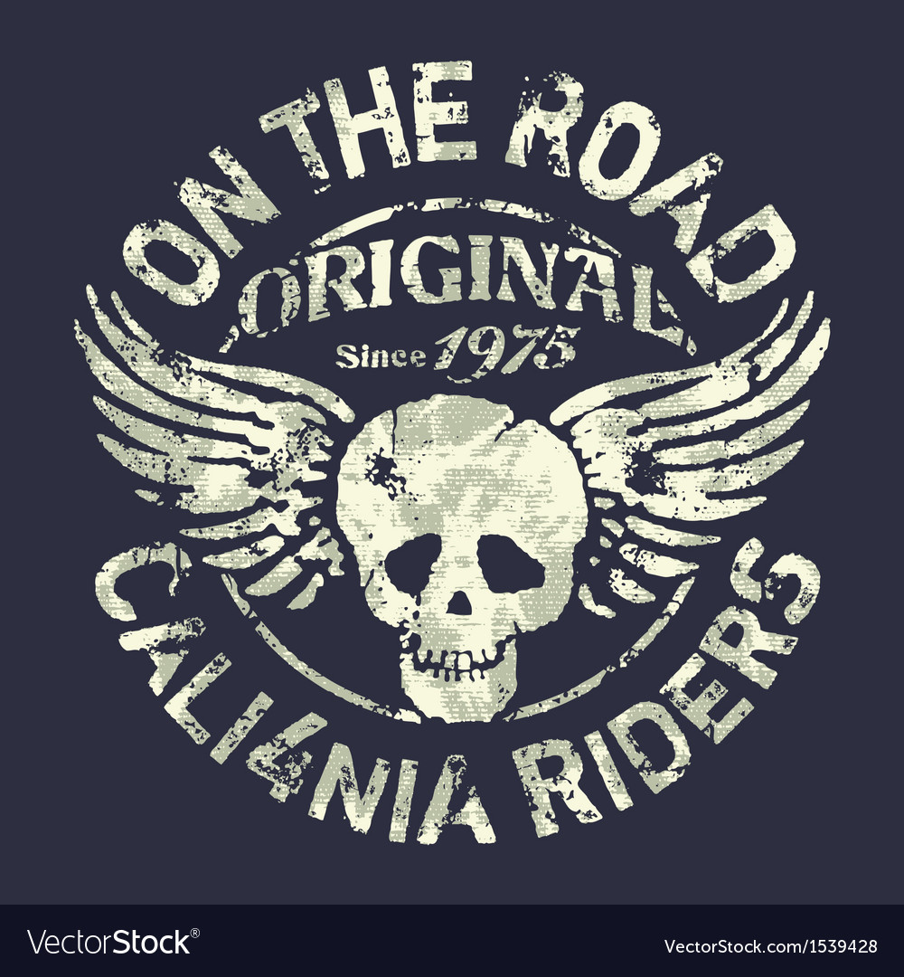 California motorcycle riders team vector | Price: 1 Credit (USD $1)